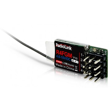 R4FGM Mini 2.4Ghz 4Ch Receiver for RC4GS, RC6GS, T8FB & T8S