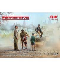 WWII French Tank Crew (4) 1/35