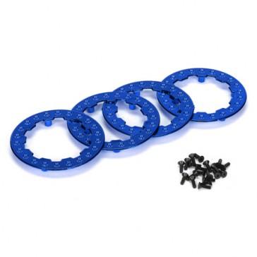 DISC.. Beadlock Ring w/Screws. Blue Chrome: XXX-SCT(4)