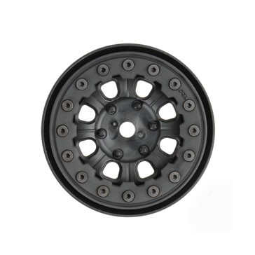 "DENALI 1.9"" BLACK/ BLACK BEADLOC 8 SPOKE WHEELS"
