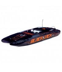 Blackjack 42-inch Brushless 8s Cat, BLK/ORG :RTR