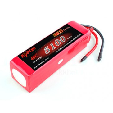 DISC..Air Lipo Battery - K6 40C 5100mha 5S 45,5x45x154mm 653gr