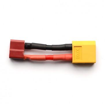 Adaptateur prise XT60 controleur (M) vers Deans (T) batterie (F)