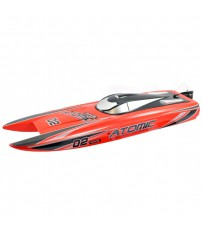 RACENT ATOMIC 70CM B/LESS RACEBOAT COMBO RTR RED