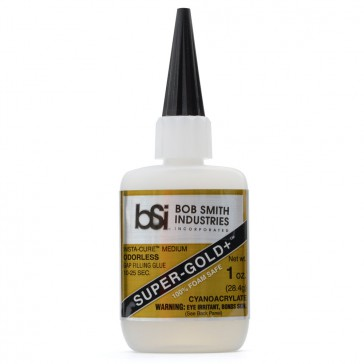 Super-Gold+ Cyanoacrylate Gap Fill Foam Safe Odorless 28g (1 oz)