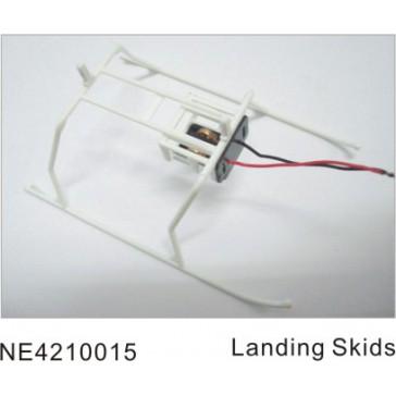 DISC.. NE210 LANDING SKIDS / WHITE * PLEASE, USE NE.4210061 *
