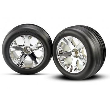Tires & wheels, assembled, glued (2.8)(All-Star chrome wheel