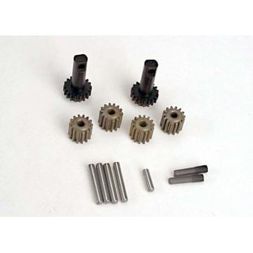 Planet gears (4)/ planet shafts (4)/ sun gears (2)/sun gear
