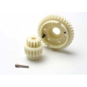 Gear set, 2-speed standard ratio (2nd speed gear 39T, 13T-17