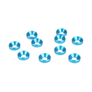 DISC.. 5mm Countersunk Washer.Blue (10)