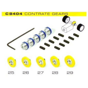 Pack of 5 assorted contrate gears