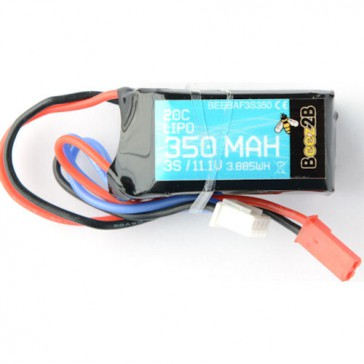 3S 11.1v 350mAh 20C Lipo Battery (23 x 22 x 42mm - 45g)