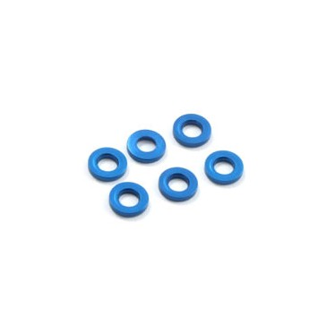 M3 FLAT WASHER BLUE 1.5mm (6)