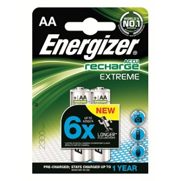 2 Accus AA Energizer Extreme 2300 mAh