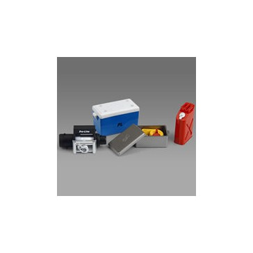SCALE ACCESSORY SET n°1 COOLER,WINCH + BOX, GAS CAN