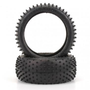 Mini Spike 1/8th Tyre - Yellow  (pr)