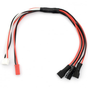 Charge lead for 3x 1S Lipo w/ balancer (XH) : Walkera micro plug