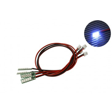 DISC.. Blue LED (JR 2-Pin flat connector) x4