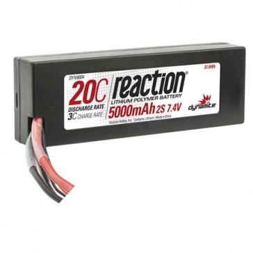 7.4V 5000mAh 2S 20C LiPo Hardcase: EC3