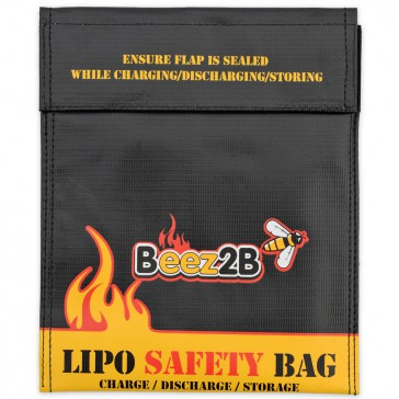Lipo safety bag for charge, discharge & storage (180x220mm)