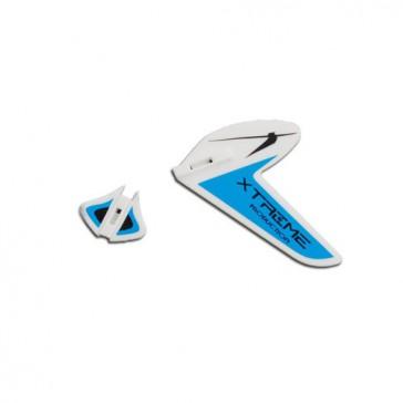 DISC.. Tail Fins-type B Blue (Eflite MCX)