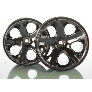 Wheels, All-Star 2.8 (black chrome) (nitro rear/ electric fr