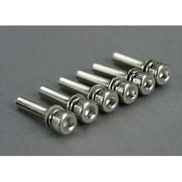Screws, 3x15mm cap-head machine (hex drive) (with split and