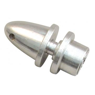 Plateau avec cone, axe 5 mm, trou hélice 6 mm