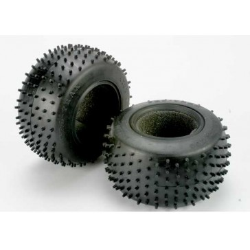 Tires, Pro-Trax spiked 2.2 (soft-compound)(rear) (2)/ foam i