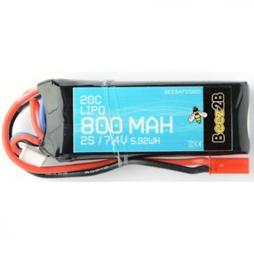 Batterie Lipo 2S 7.4v 800mAh 20C (13 x 26 x 70mm - 55g)
