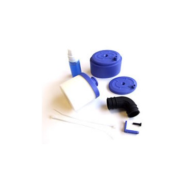 WATERPROOF AIR FILTER 1/8TH w/AIR FILTER OIL - BLUE