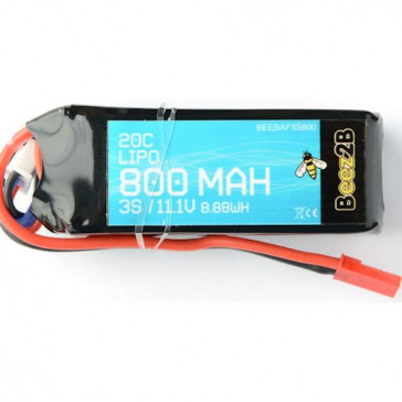 3S 11.1v 800mAh 20C Lipo Battery (20 x 26 x 70mm - 76g)