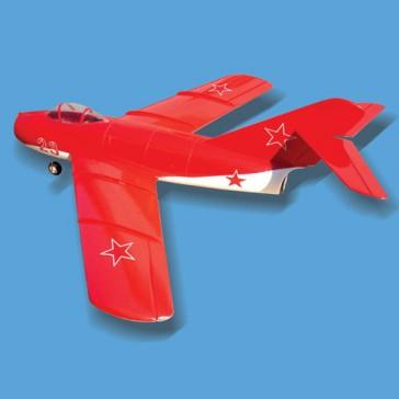 DISC.. Mig 15 red/white 70 mm Single Fan Jets