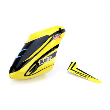 DISC.. Complete Yellow Canopy w/Vertical Fin: nCP X