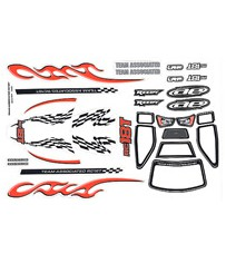 RC18T BODY DECAL SHEET