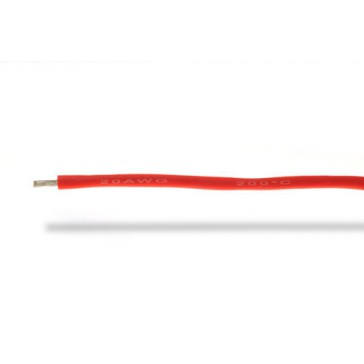 Fil silicone  20AWG (0,50mm²) rouge - 1m