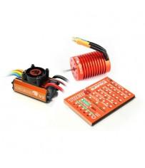 LEOPARD V2 1/10 Brushless combo : Esc, 10,0T motor & Prog. Card