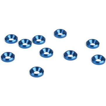 DISC.. Rondelle cuvette 3mm, Bleue (10)