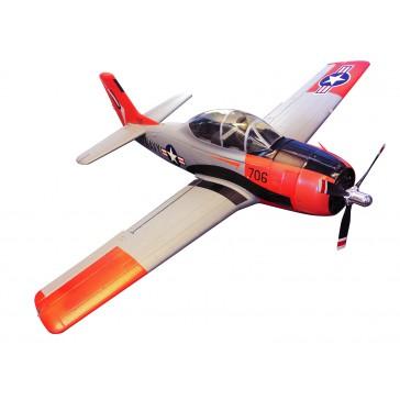 DISC.. Avion 1400mm T-28D (gris et rouge) kit PNP Repainted