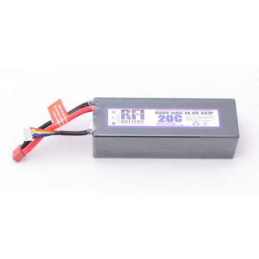 DISC.. Lipo Hard case 4000mAh 20C/40C 14,8V (4S)  38x47x137