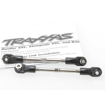 Turnbuckles, toe link, 59mm (78mm center to center) (2) (ass