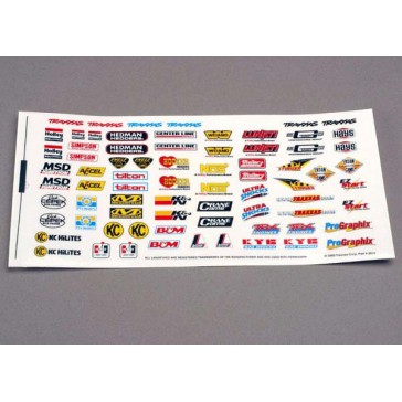 Decal sheet, racing sponsors