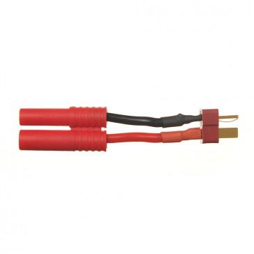 DISC.. Adaptateur prise Deans (T) controleur (M) vers 4.0mm FMS (F)
