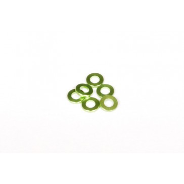 DISC.. Spacer 1x6mm Green (6)