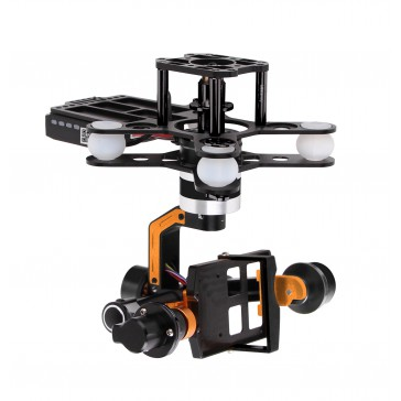 DISC.. G-3DH (360°) Brusless Gimbal (metal) for GoPro 3 / iLook camer