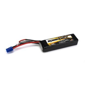 11.1V 1400mAh 3S 30C LiPo, Long w/EC3: Minis