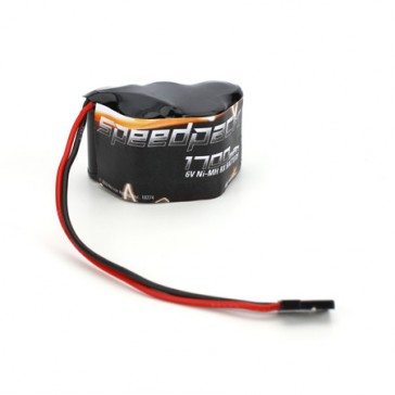 6V 1700mAh NiMH Receiver Pack. 3+2 Hump