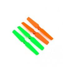 DISC.. 3d Props for the 200QX (4pcs Set) orange/green