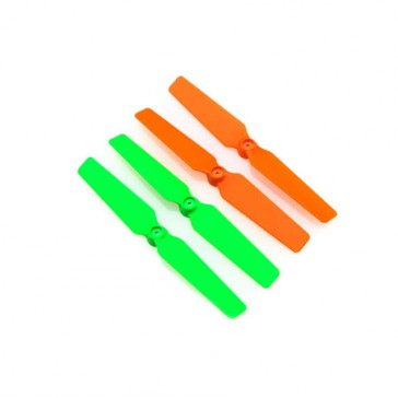 DISC.. 3d Props for the 200QX (4pcs Set) orange/green
