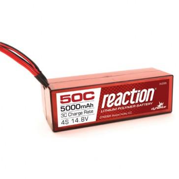 Reaction 14.8V 5000mAh 4S 50C LiPo, Hardcase: EC5